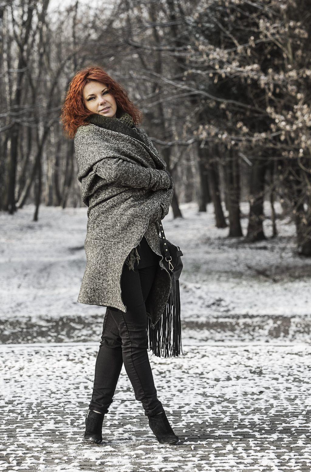 Kardigan sweter bez zapięcia