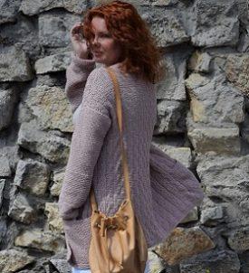 sweter na drutach Słoneczna Małgorzata Blog o szyciu